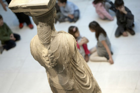 Deatails on Caryatids New Acropolis Museum Athens What to do in Athens with 5 euro!
