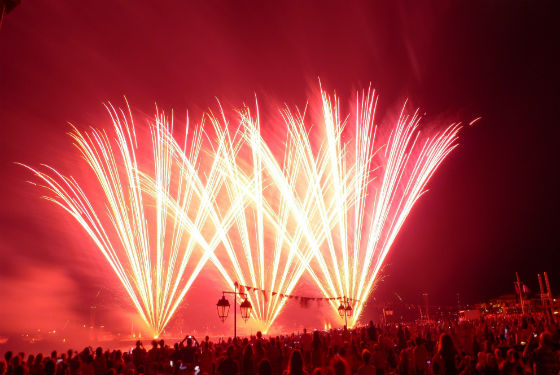 Courtesy of Nanos Fireworks II The spectacular Armata Festival on Spetses