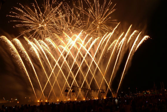 Courtesy of Nanos Fireworks III The spectacular Armata Festival on Spetses