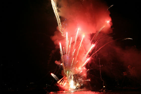 Courtesy of the Municipality of Spetses The spectacular Armata Festival on Spetses