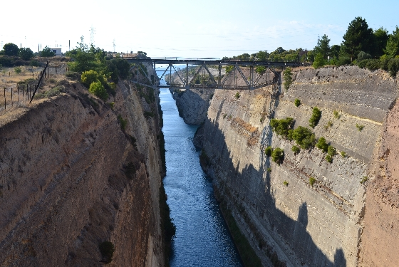 Corinth Canal1 A two day road trip to Peloponnese's ancient history