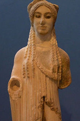 almond eye kore acropolis museum image Marsyas Wikimedia Commons Athens Museums – Worth a Voyage
