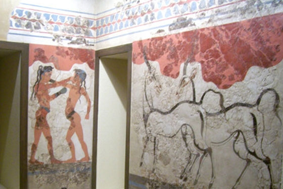 boxing boys and gazelles akrotiri Athens Museums – Worth a Voyage
