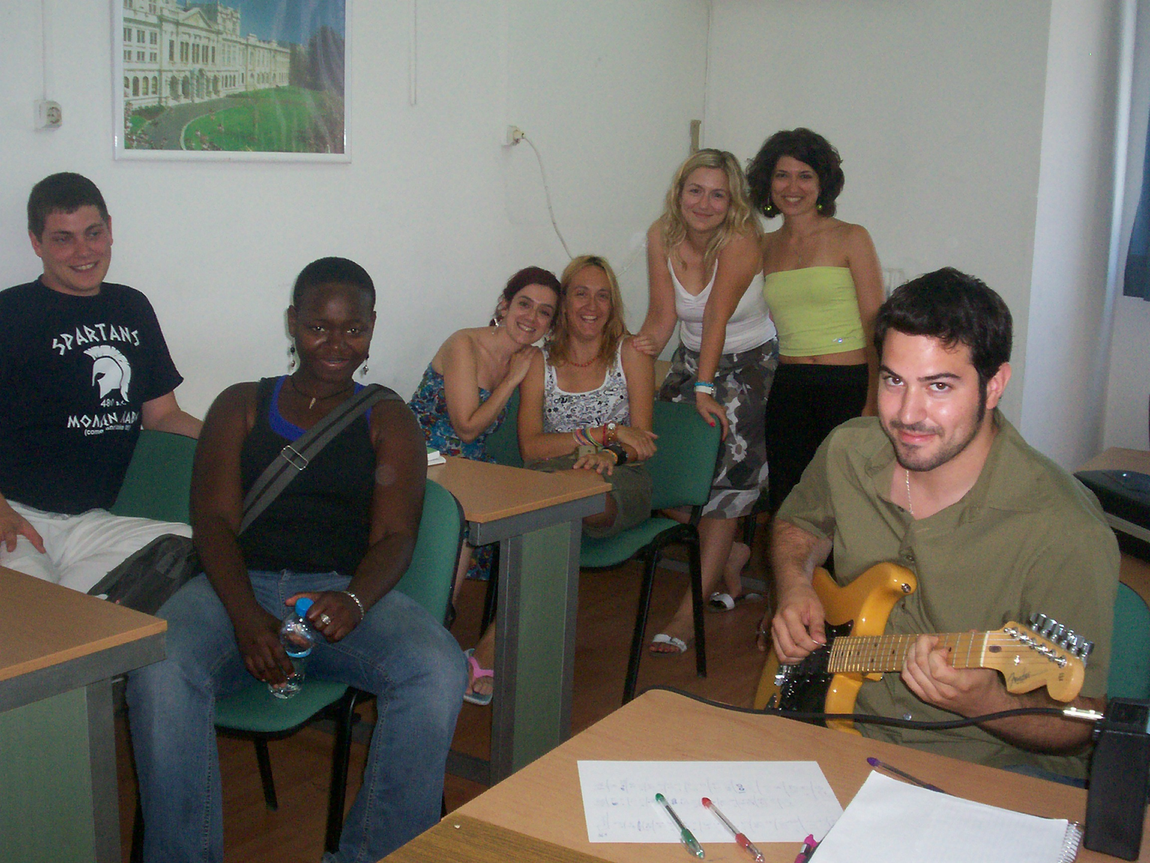 "In class 52 Hellenic Language School ""Alexander the Great"""