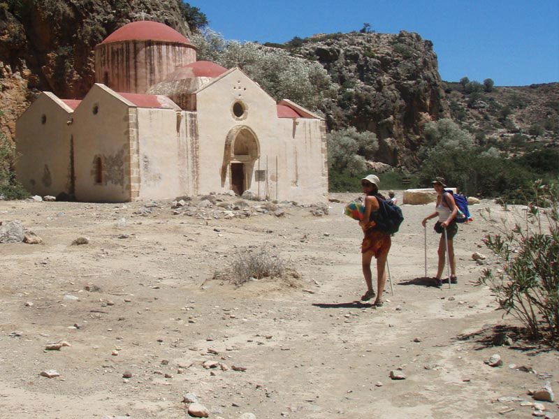 The chapel of Saint Antony in Agiofaraggo Beach Agiofarago Beach in Crete