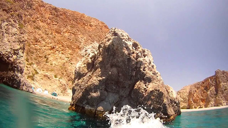 The cliff Papadoplaka opposite Agiofaraggo Beach1 Agiofarago Beach in Crete