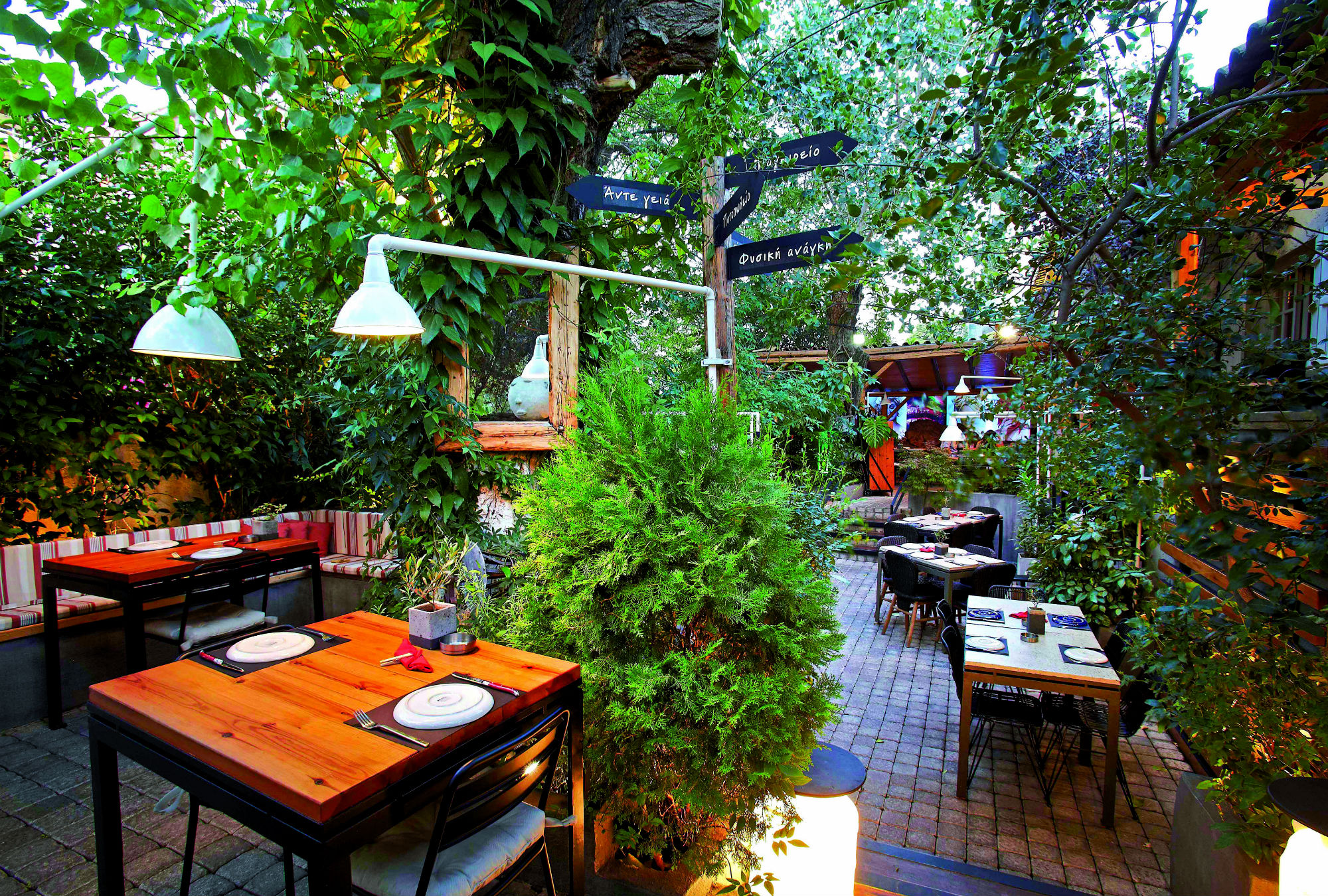 Lefkes Five cool summer yards for dining in Athens