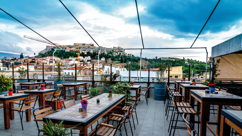 "Taratses Couleur The ""tastier"" rooftops in Athens"